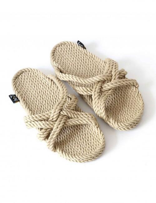 Sandales en corde recyclable croisées - Boutique l'ananas