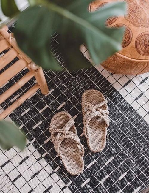 Sandales en corde recyclable - Boutique l'ananas