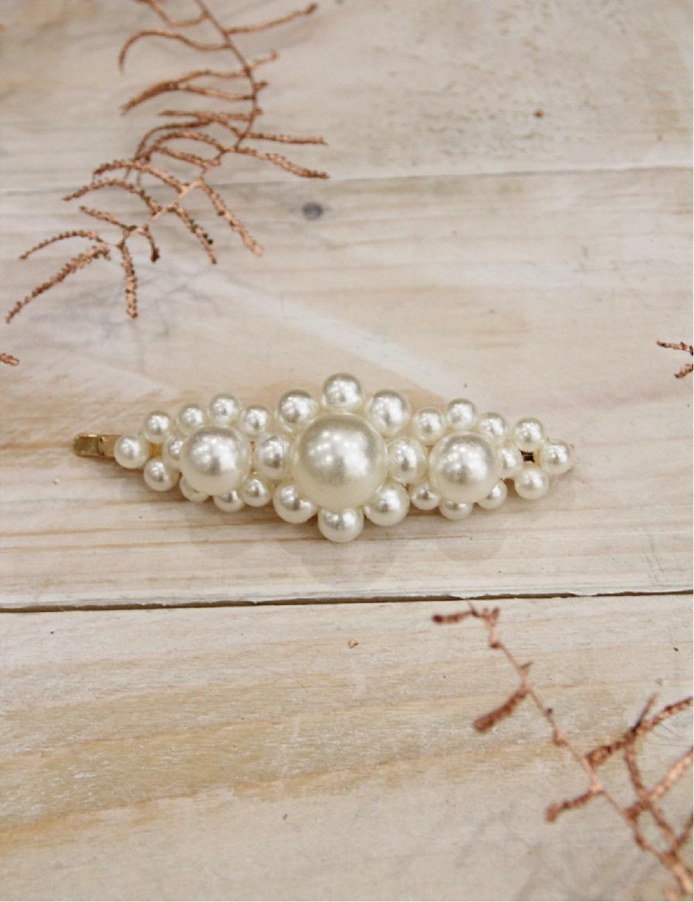 Barrette pince grosses perles - Boutique l'ananas