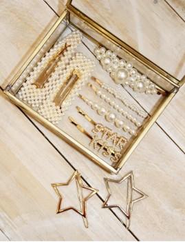 Barrette pince grosses perles bohème - Boutique l'ananas