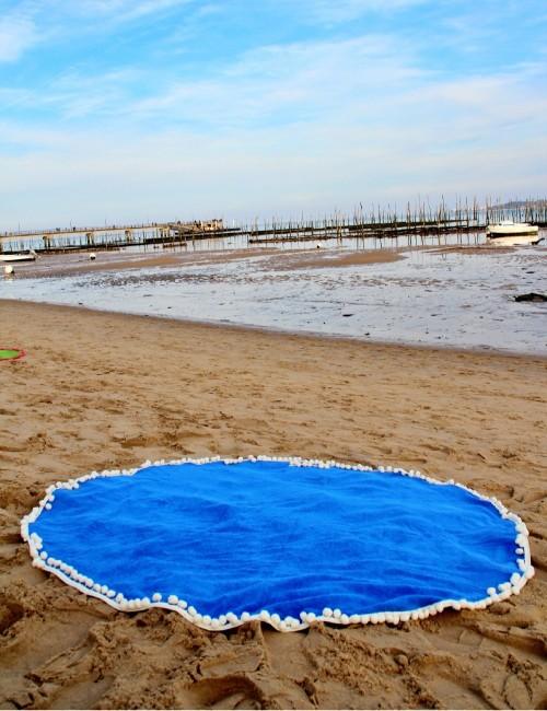 Serviette ronde de plage marine - Boutique l'ananas