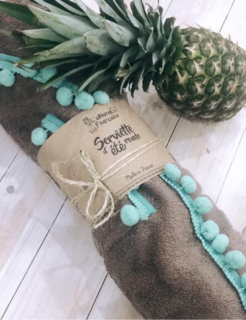 Grande serviette marron bohème - Boutique l'ananas