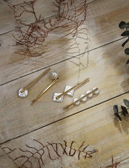Lot de 4 barrettes en perles - Boutique l'ananas