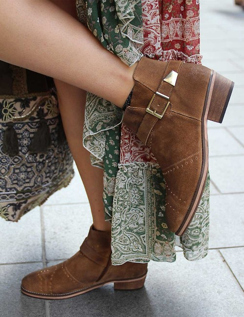 Boots camel gypsy - Boutique l'ananas