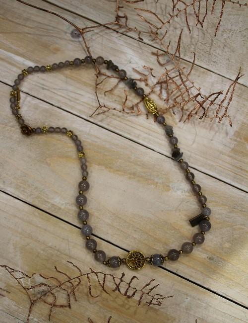 Bracelet collier vierge gris - Boutique l'ananas