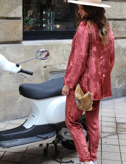 Veste terracotta en velours - Boutique l'ananas