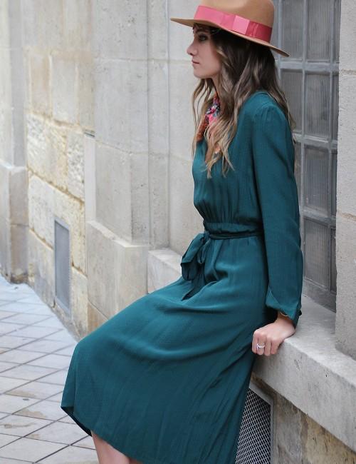 Robe verte bohème - Boutique l'ananas