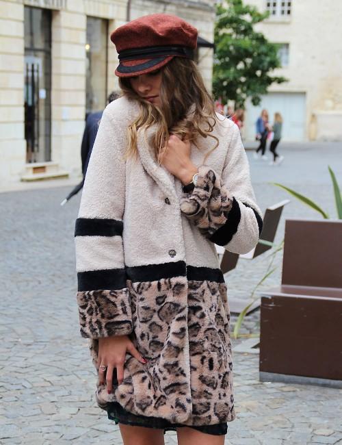Manteau léopard - Boutique l'ananas