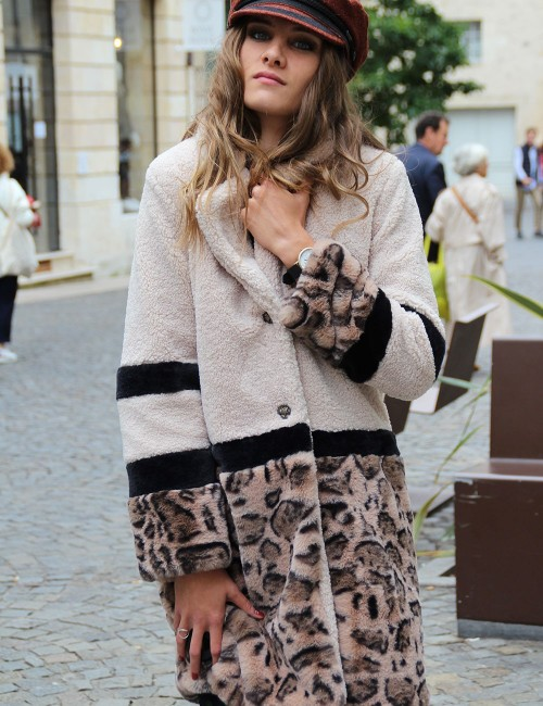 Manteau gypsy léopard - Boutique l'ananas