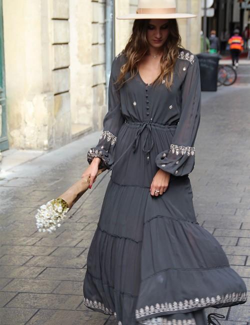 Robe longue bohème - Boutique l'ananas