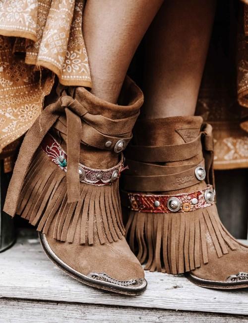 Boots à franges - Boutique l'ananas