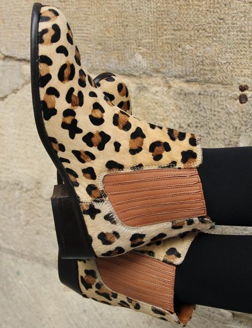Boots léopard - Boutique l'ananas