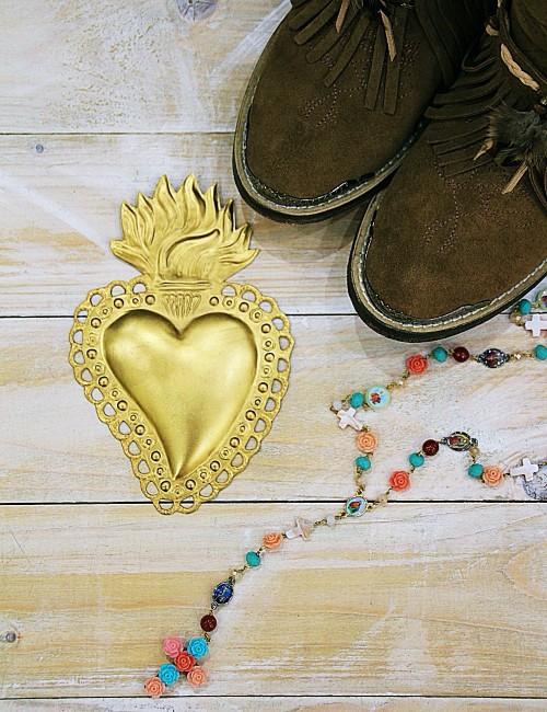Coeur or exvoto - Boutique l'ananas