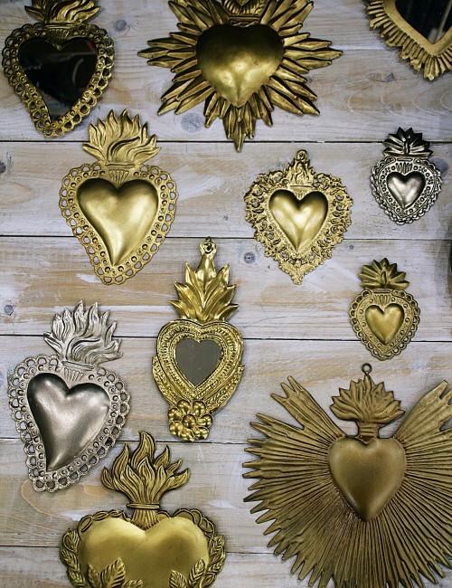 Coeur décoration exvoto - Boutique l'ananas