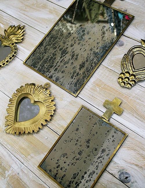 Miroir croix vintage - Boutique l'ananas