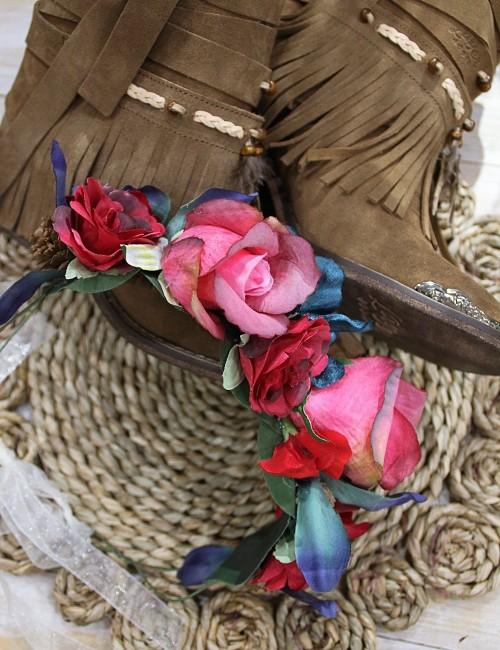 Couronne de fleurs hippie - Boutique l'ananas