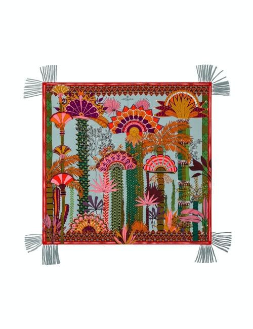 Foulard jardin d'Eden multicolore bohème - Boutique l'ananas