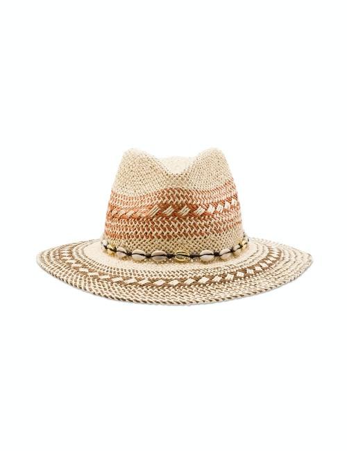 Chapeau tressage tricolore - Boutique l'ananas
