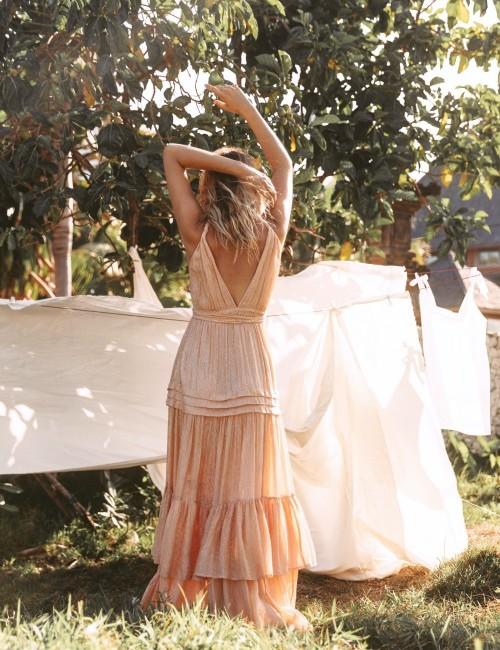 Robe longue d'été hippie - Boutique l'ananas
