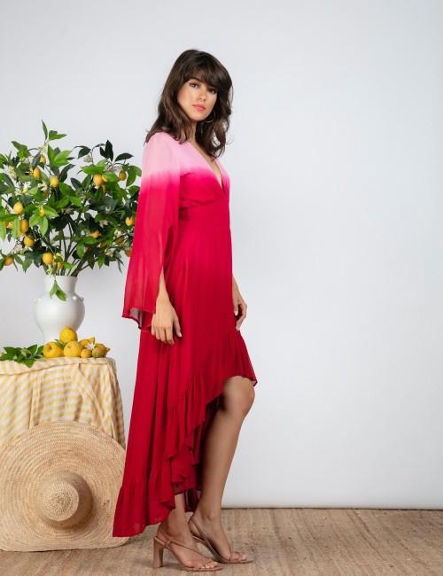 Robe d'été bohème tie and dye - Boutique l'ananas