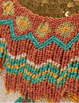 Sac besace brodé perles multi hippie - Boutique l'ananas