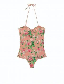 Maillot de bain imprimé fleurs bohémien - Boutique l'ananas