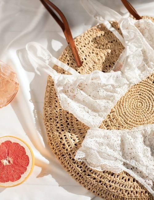 Ensemble de sous-vêtement blanc - Boutique l'ananas