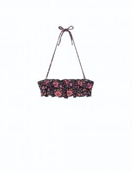 Bikini à volants imprimé floral hippie style - Boutique l'ananas