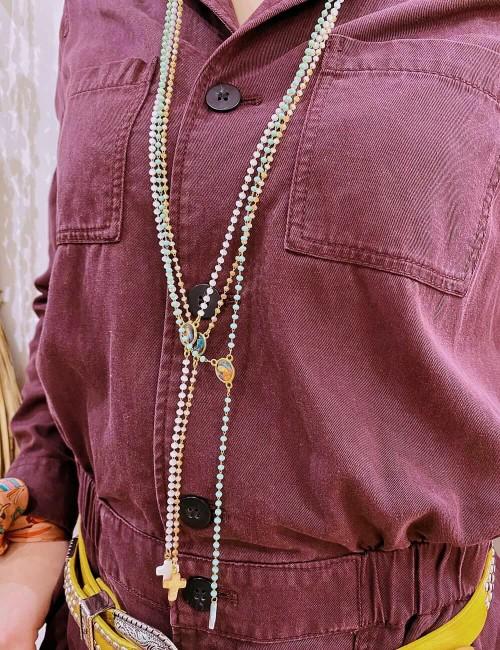 Sautoir chapelet en perles - Boutique l'ananas