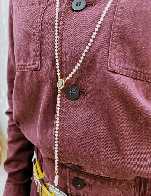 Sautoir chapelet en perles bohème - Boutique l'ananas