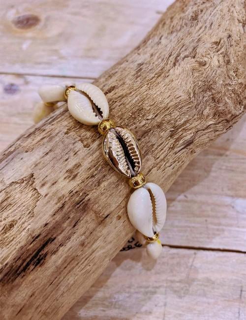 Bracelet coquillages bohemian - Boutique l'ananas