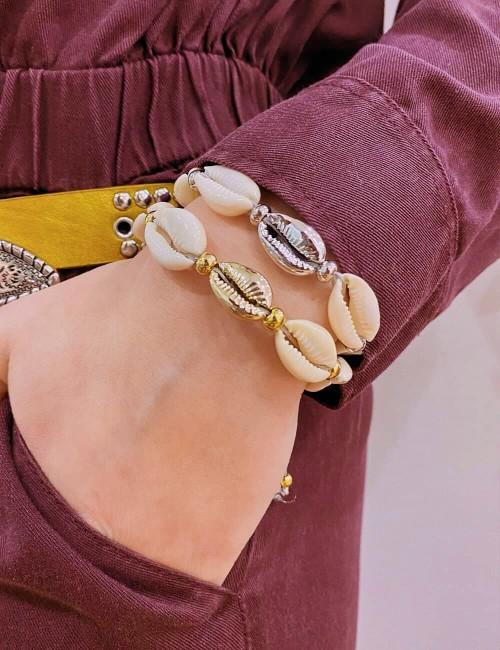 Bracelet coquillages bohemian style - Boutique l'ananas