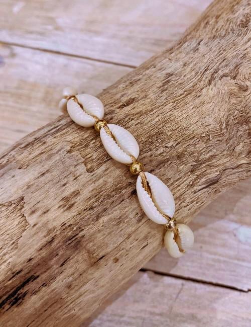 Bracelet coquillages - Boutique l'ananas