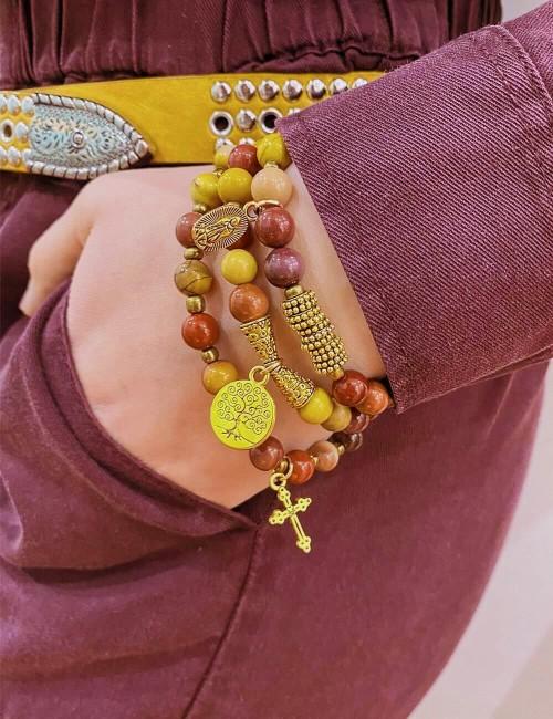 Bracelet et/ou collier perles bohème - Boutique l'ananas