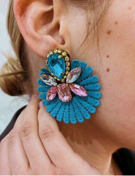 Boucles d'oreilles en pierres dentelle - Boutique l'ananas