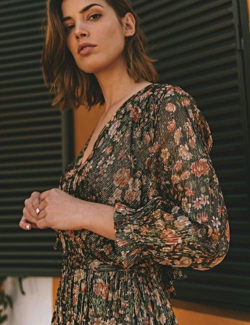 Robe longue noire bohème - Boutique l'ananas