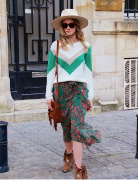 Pull en maille hippie chic - Boutique l'ananas