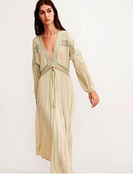 Robe longue d'été bohème - Boutique l'ananas