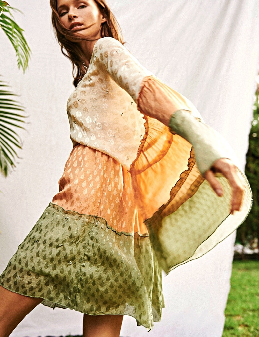 Robe manches papillon - Boutique l'ananas