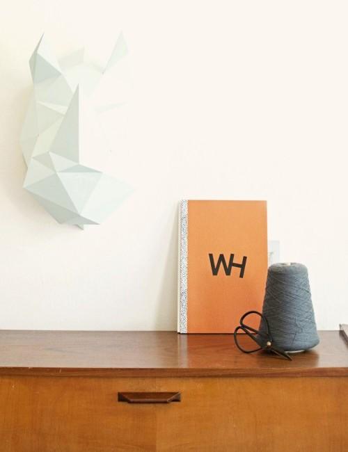Origami Rhinocéros tête bleu- Boutique l'ananas
