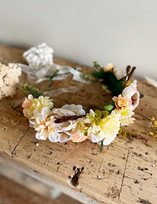 Couronne de fleurs bohème chic - Boutique l'ananas
