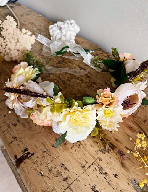 Couronne de fleurs bohème - Boutique l'ananas