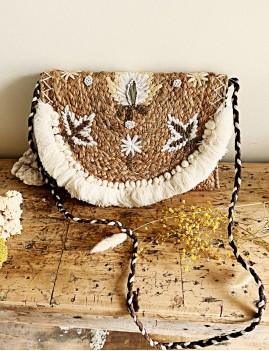 Pochette en osier gypsy - Boutique  l'ananas