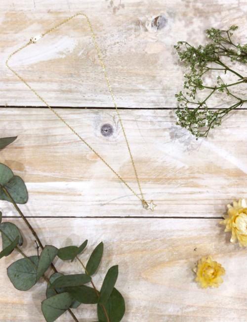Collier pendentif étoile strass réglable - Boutique l'ananas