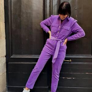 Lilas 💜🌸 La combi en velours côtelé que vous aimez tant.. Vous préférez la Lilas ou là kaki ? www.boutique-lananas.com   #combivelours #velours #ootd #outfit #boheme #lilas #lila #combilila #outfitlila #bordeaux